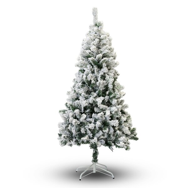 PVC Snow Flocked Pine Artificial Christmas Tree by The Holiday Aisle