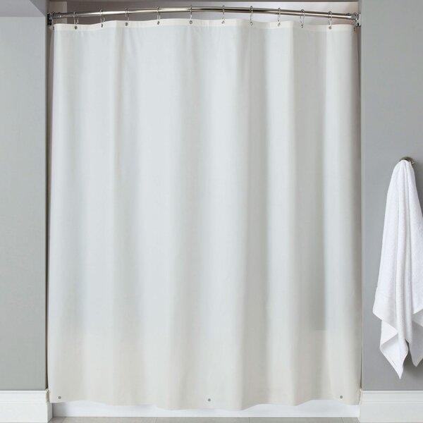 Wellhead 8 Gauge Heavyweight Textured Vinyl Shower Curtain by Charlton Home