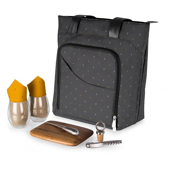 Anthology 9 Piece Sonoma Wine and Cheese Tote Set by Freeport Park