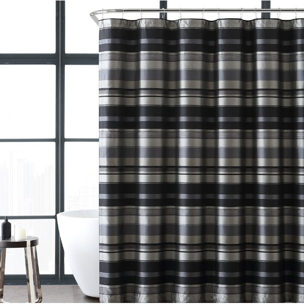 Heuer Stripe Shower Curtain by Charlton Home