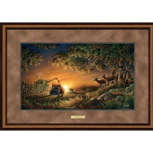 Sunset Harvest by Terry Redlin Framed Painting Print by Wild Wings
