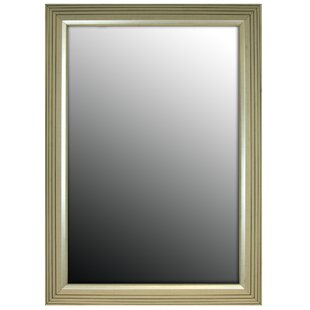 Stepped Vintage Silver Petite Wall Mirror By Second Look Mirrors