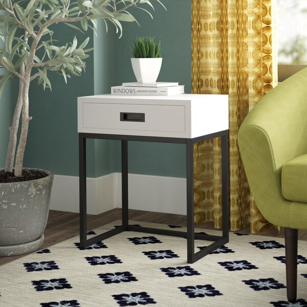 Southmead End Table With Storage By Orren Ellis