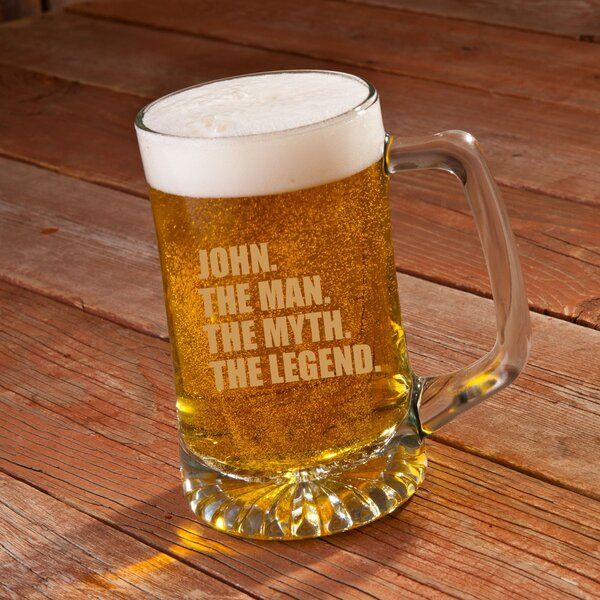 The Man/The Myth/The Legend 25 Oz. Beer Glass by JDS Personalized Gifts