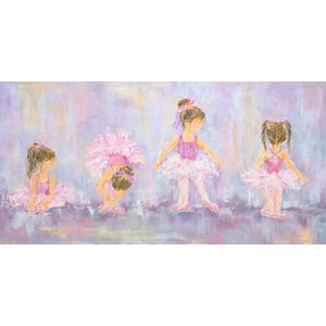 'Little Dancers' by Susan Pepe Stretched Canvas Art by Oopsy Daisy