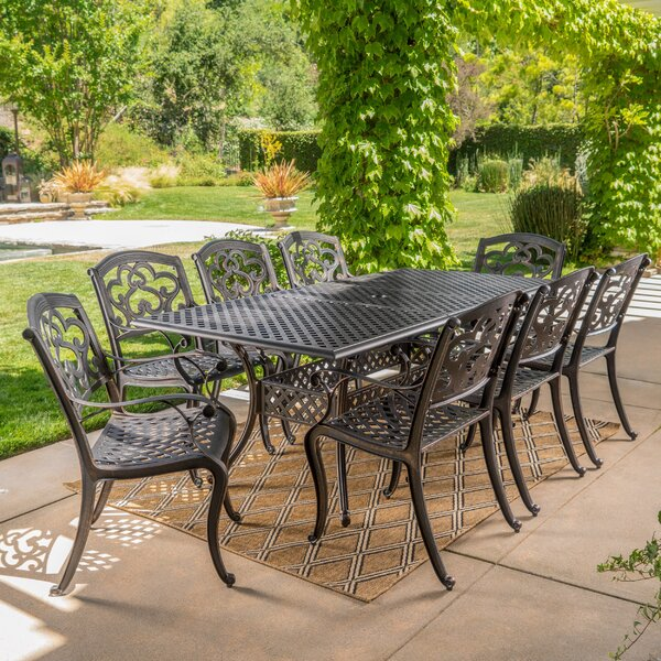 Savannah 9 Piece Dining Set by Darby Home Co