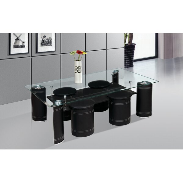 Coffee Table with Nested Stools by Best Quality Furniture