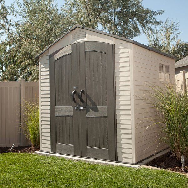7 ft. W x 7 ft. D Plastic Storage Shed by Lifetime