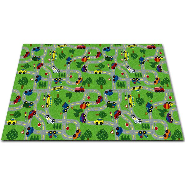 On The Go Green Indoor/Outdoor Area Rug by Kid Carpet