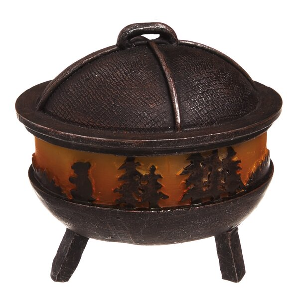 Kaibab Lighted Mini Garden Polyresin  Fire Pit by Loon Peak