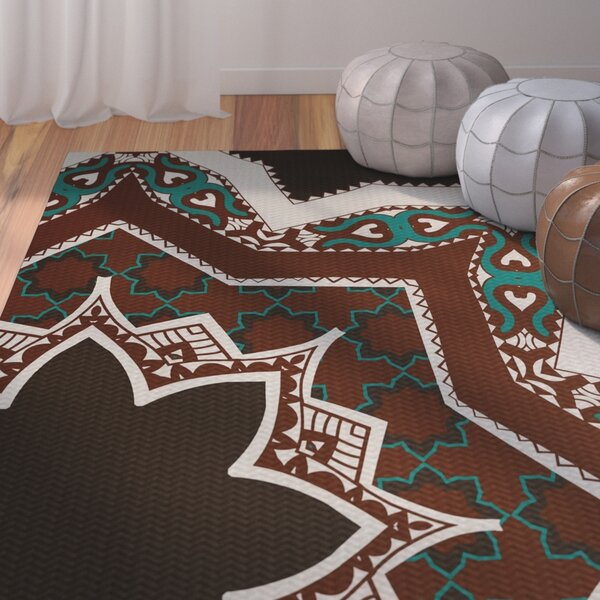 Soluri Brown / Blue Area Rug by Bungalow Rose