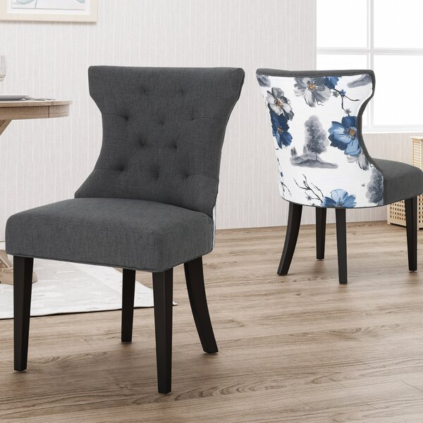 Orourke Two Toned Upholstered Dining Chair (Set of 2) by Alcott Hill Alcott Hill