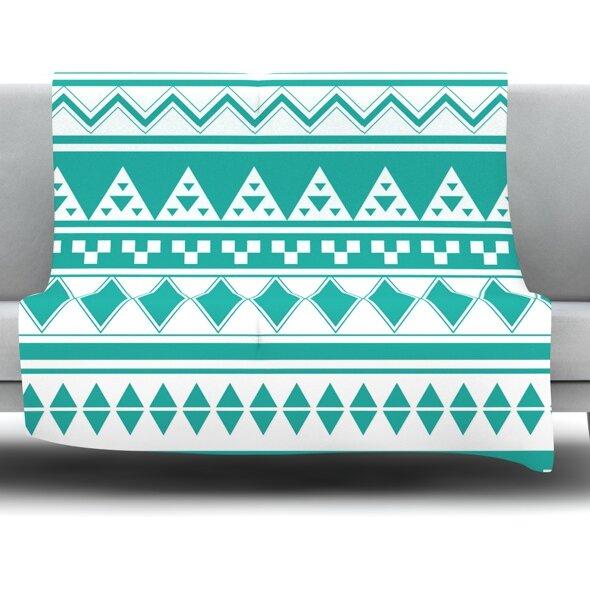 Aztec by Belinda Gillies Fleece Throw Blanket by East Urban Home