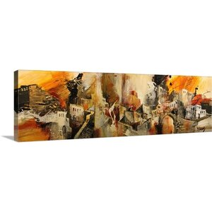 'Mediterranean Memories IX' Graphic Art on Canvas by Mercury Row