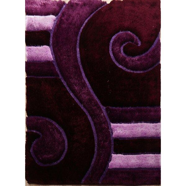 Dunshee Shaggy 3D Purple Indoor/Outdoor Area Rug by Latitude Run