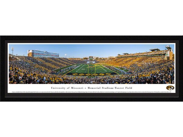 NCAA Missouri, University of - Football End Zone by Robert Pettit Framed Photographic Print by Blakeway Worldwide Panoramas, Inc