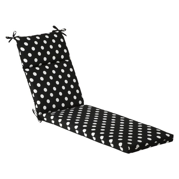 Polka Dot Indoor/Outdoor Chaise Lounge Cushion by Pillow Perfect