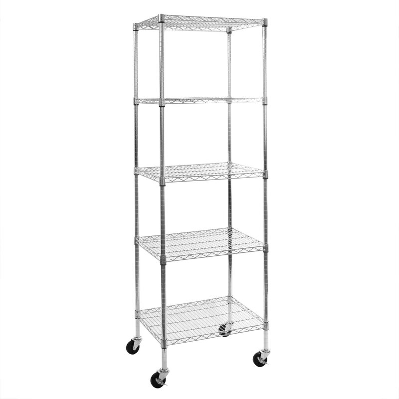 Seville Classics 5-Tier UltraZinc™ NSF Steel Wire Shelving with ...