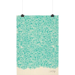 'Abstract Pattern Turquoise' Graphic Art Print by East Urban Home