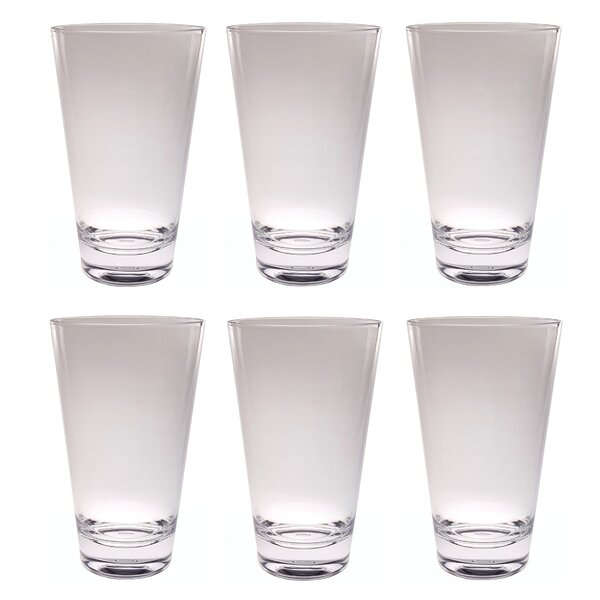 Gibsonia Iced Tea Tumbler 21 oz. Acrylic Every Day Glasses (Set of 6) by Charlton Home