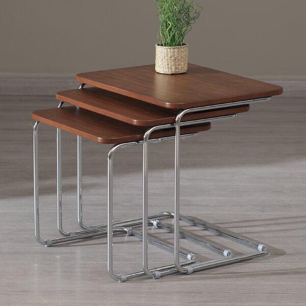 Kent 3 Piece Nesting Tables by Oak Idea Imports