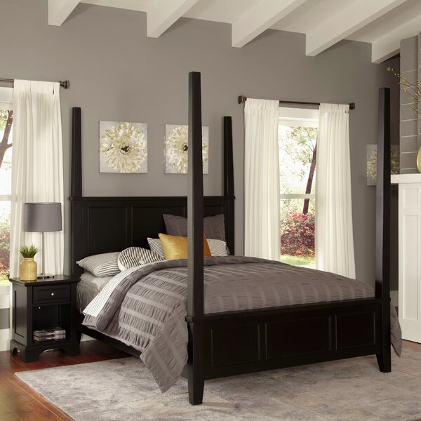 Marblewood Four Poster 2 Piece Bedroom Set by Alcott Hill