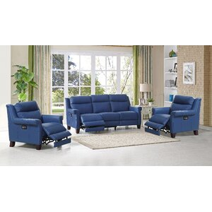 Dolce Leather 3 Piece Living Room Set by HYDELINE BY AMAX