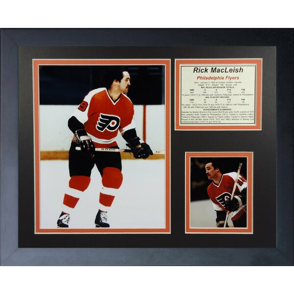Rick MacLeish - Philadelphia Flyers Framed Photographic Print by Legends Never Die