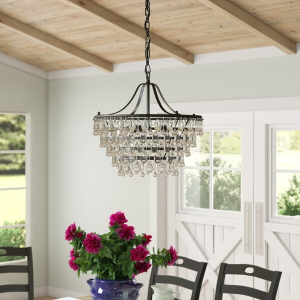 Karsyn 6 - Light Unique / Statement Tiered Chandelier with Crystal Accents by Three Posts Three Posts