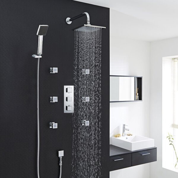 Kiev Thermostatic Complete Shower System with Rough-in Valve by FontanaShowers FontanaShowers