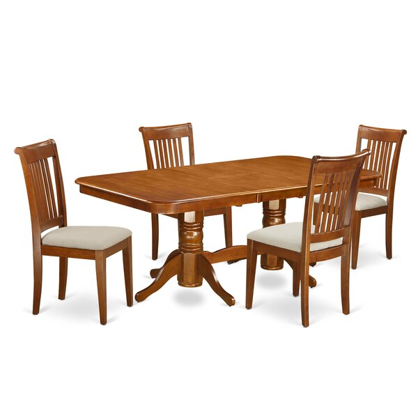 Naport 5 Piece Dining Set by East West Furniture