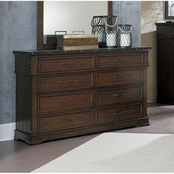 Donnelly 8 Drawer Double Dresser by Millwood Pines