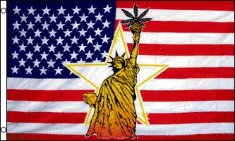 Statue of Liberty with Leaf Traditional Flag by Flags Importer