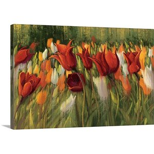 'Tipsy Tulips' by Shirley Novak Painting Print on Wrapped Canvas by Great Big Canvas