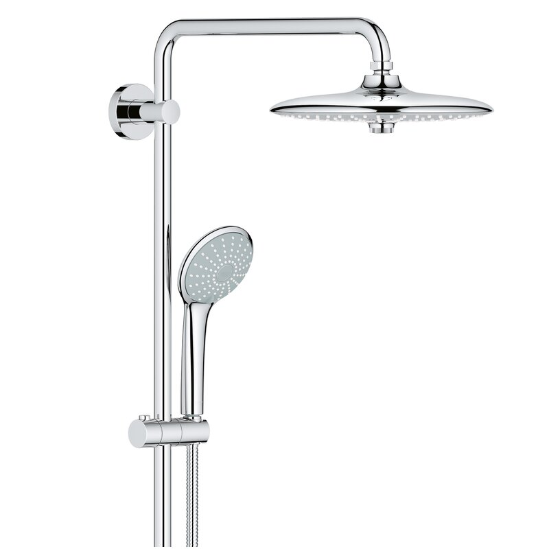 Euphoria+Thermostatic+Complete+Shower+System+with+SpeedClean+Technology