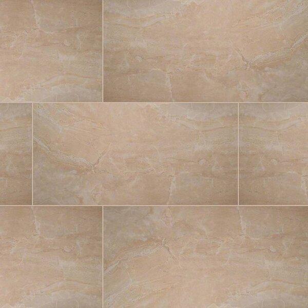 Pietra Onyx 16 x 32 Porcelain Field Tile in Beige by MSI