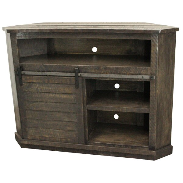 Mahoney Solid Wood Corner TV Stand For TVs Up To 55