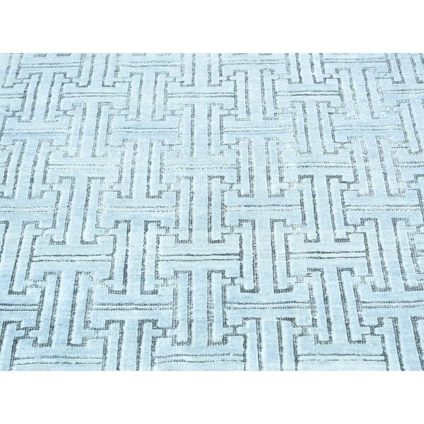 One-of-a-Kind Boerner Geometric Design Handwoven Ivory Wool Area Rug by Isabelline