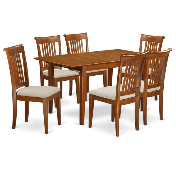 Katie 7 Piece Extendable Dining Set by Alcott Hill