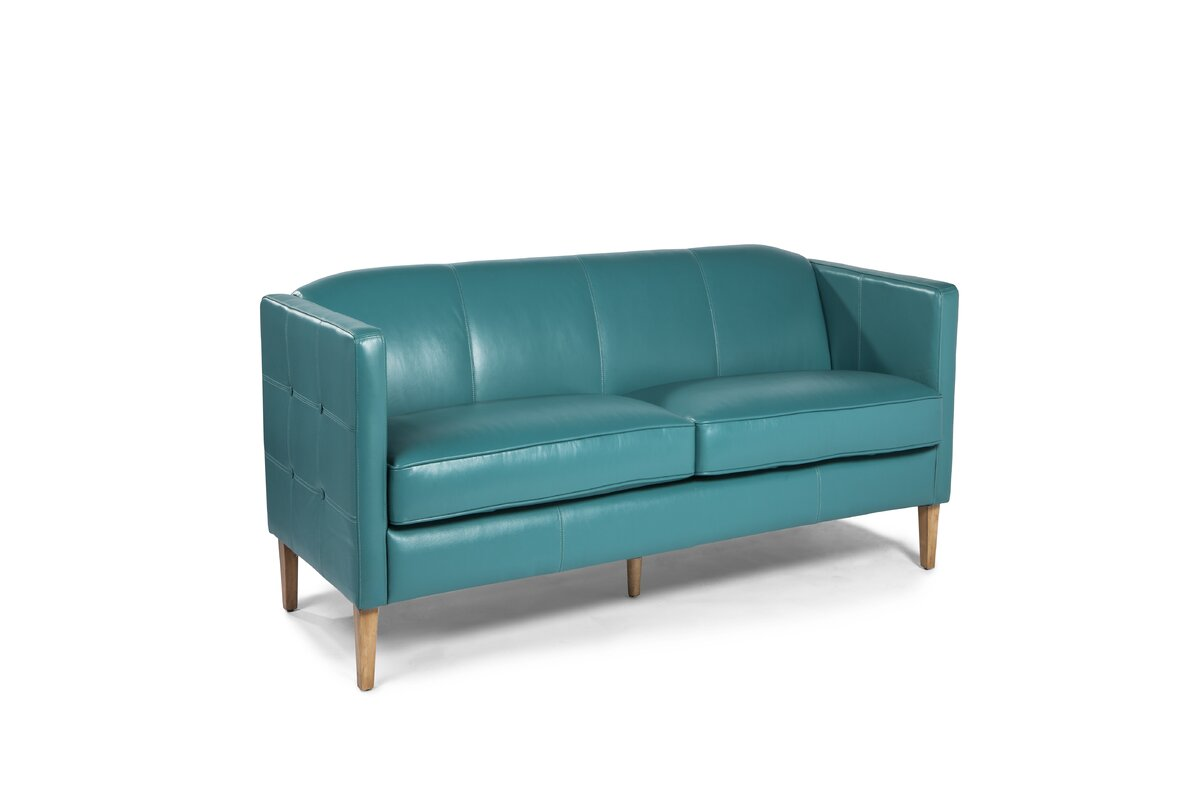 Miami Leather Loveseat By Lazzaro Leather Read Reviews Sofas