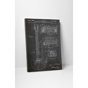 Patent Prints Gibson Guitar Les Paul Graphic Art on Wrapped Canvas by Pingo World