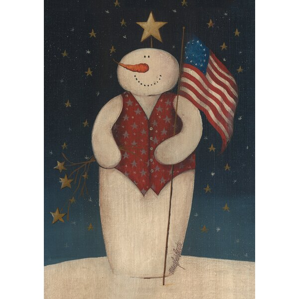 Flag Waving Snowman Garden flag by Toland Home Garden