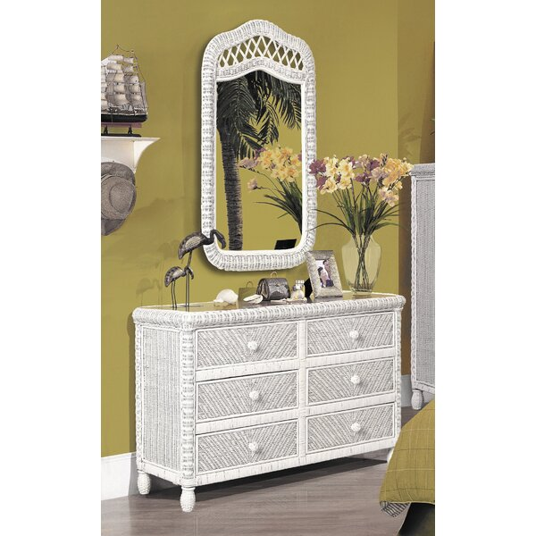 Santa Cruz 6 Drawer Double Dresser with Mirror by Bay Isle Home