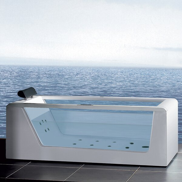 Platinum 59 x 25.6 Whirlpool Bathtub by Ariel Bath