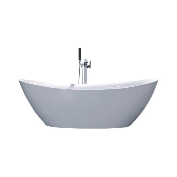 Newport 66.75 x 31.15 Soaking Bathtub by MTD Vanities
