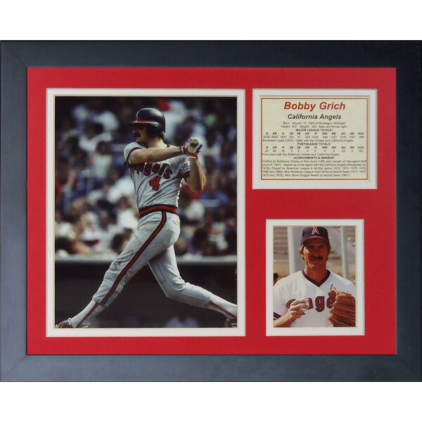 Bob Grich Framed Photographic Print by Legends Never Die