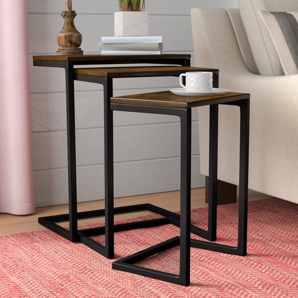 Zenia 3 Piece Nesting Tables by Laurel Foundry Mod