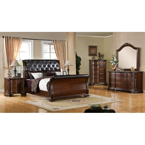 Leanne Upholstered Sleigh Configurable Bedroom Set by Canora Grey