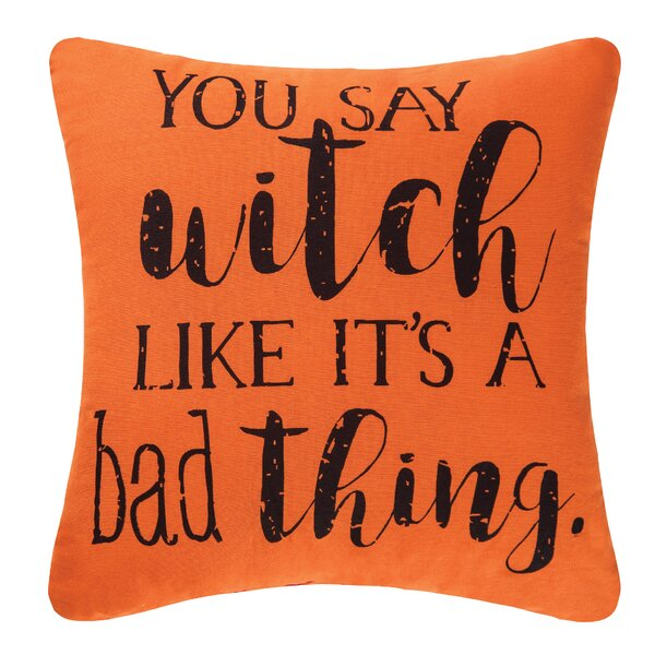 You Say Witch Halloween Throw Pillow by C&F Home