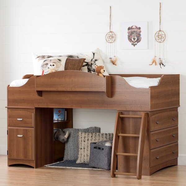 Imagine Twin Low Loft Bed with Drawers by South Shore